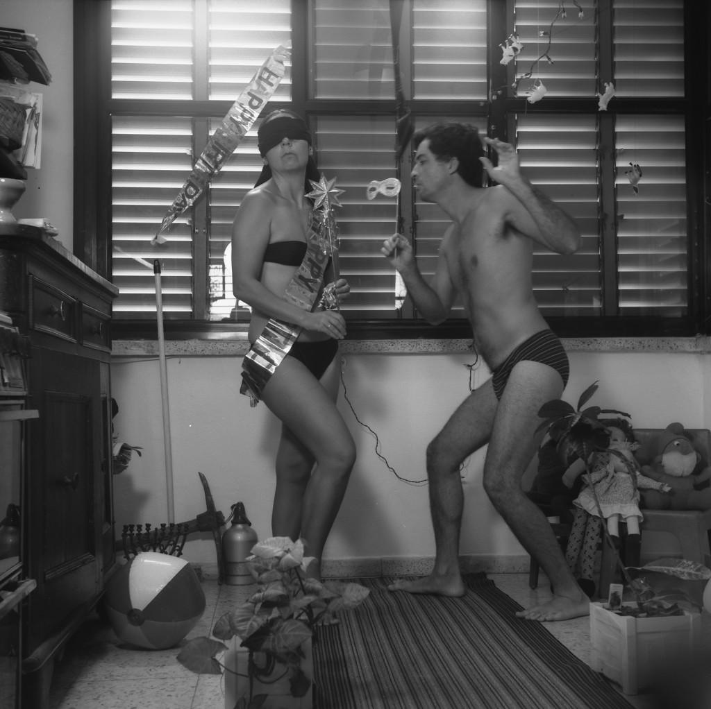 הפקפוק: דיוקן עצמי עם זהבה, 1987 דיפטיכון