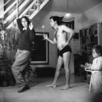 הפקפוק, דיוקן עצמי עם זהבה, 1985, דיפטיכון