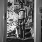 דיוקן עצמי עם זהבה:דמות עם ג'ירפה, 1983, דיפטיכון
